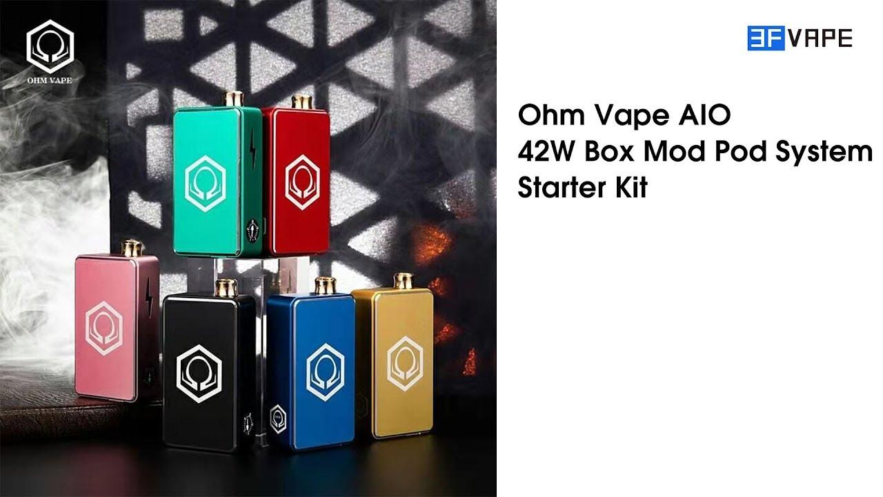 Hex Ohm 2020 Halloween Mod New arrival!Original Ohm Vape AIO 42W Box Mod Pod Kit | E