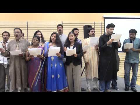 Arudra's 'Vedam la Ghoshinche Godavari.. ' from Andhra Kesari at Parthu Music Workshop
