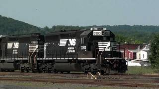 HD: Heat Wave, Norfolk Southern In and Around Reading, Pennsylvania