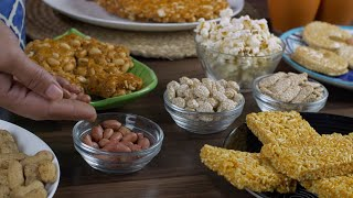 Beautifully served Lohri items consumed on the Lohri festival during wintertime