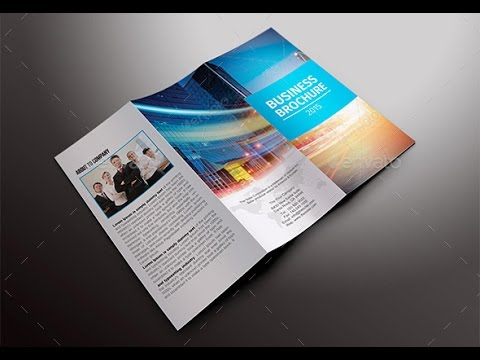 Trifold Business Brochure Template Youtube
