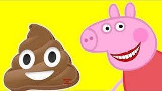 мультик свинка пеппа носит какашки на голове