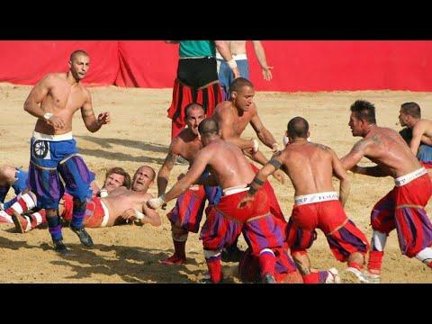 Calcio Storico Fiorentino 2016, ROSSI vs AZZURRI, Florence, Tuscany, Italy, Europe