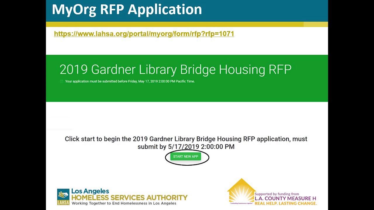 2019 Gardner Library Bridge Housing RFP Webinar