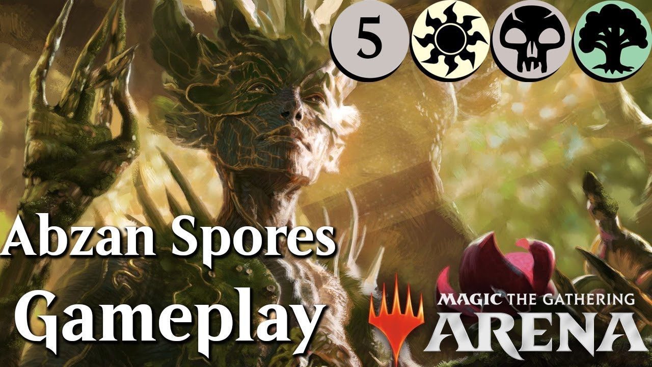 MTG Arena Beta | Abzan Saprolings DeckTech (kinda) & Gameplay Ep  5 [Best  Colors]
