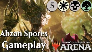 MTG Arena Beta   Abzan Saprolings DeckTech (kinda) & Gameplay Ep. 5 [Best Colors]
