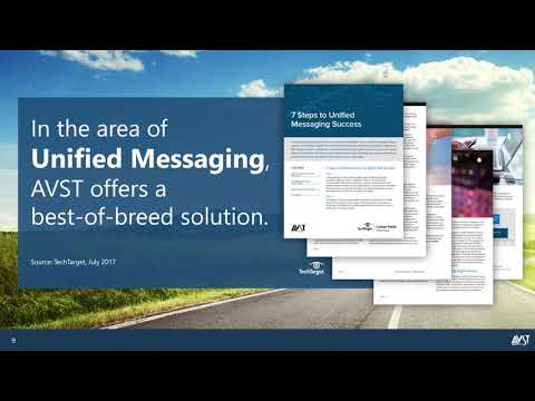 2018 AVST Webinar - Options for Microsoft Exchange Online UM Customers (316)