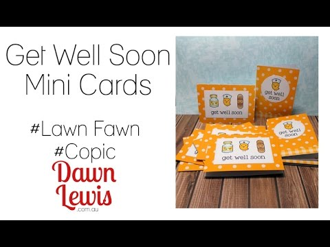 CAS get well cards, create in batches, Get Well Soon (Lawn Fawn