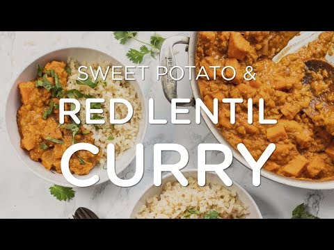 COZY & CREAMY RED LENTIL CURRY  ‣‣ Easy One Pot Vegan Recipe