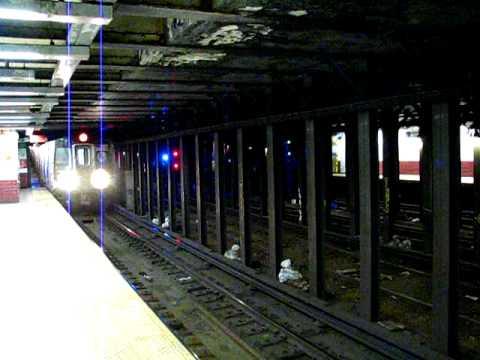 R160 N train entering Canal St R Platform