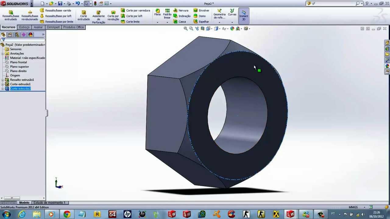 Solidworks Case Study Nut 軟體 工業設計 特效 與工程