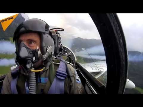 What It's Like to Pilot Hawker Hunter Jet Over Swiss Valleys