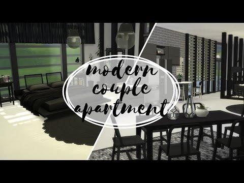 Nowoczesny Apartament Dla Pary - The Sims 4 Speed Build: Apartamenty