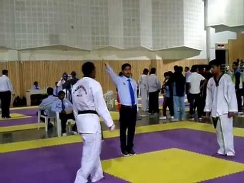 Brijesh Pasi Semi Final At Common-Wealth Games Taekwondo Selection At Pune 2014-15 Part 5