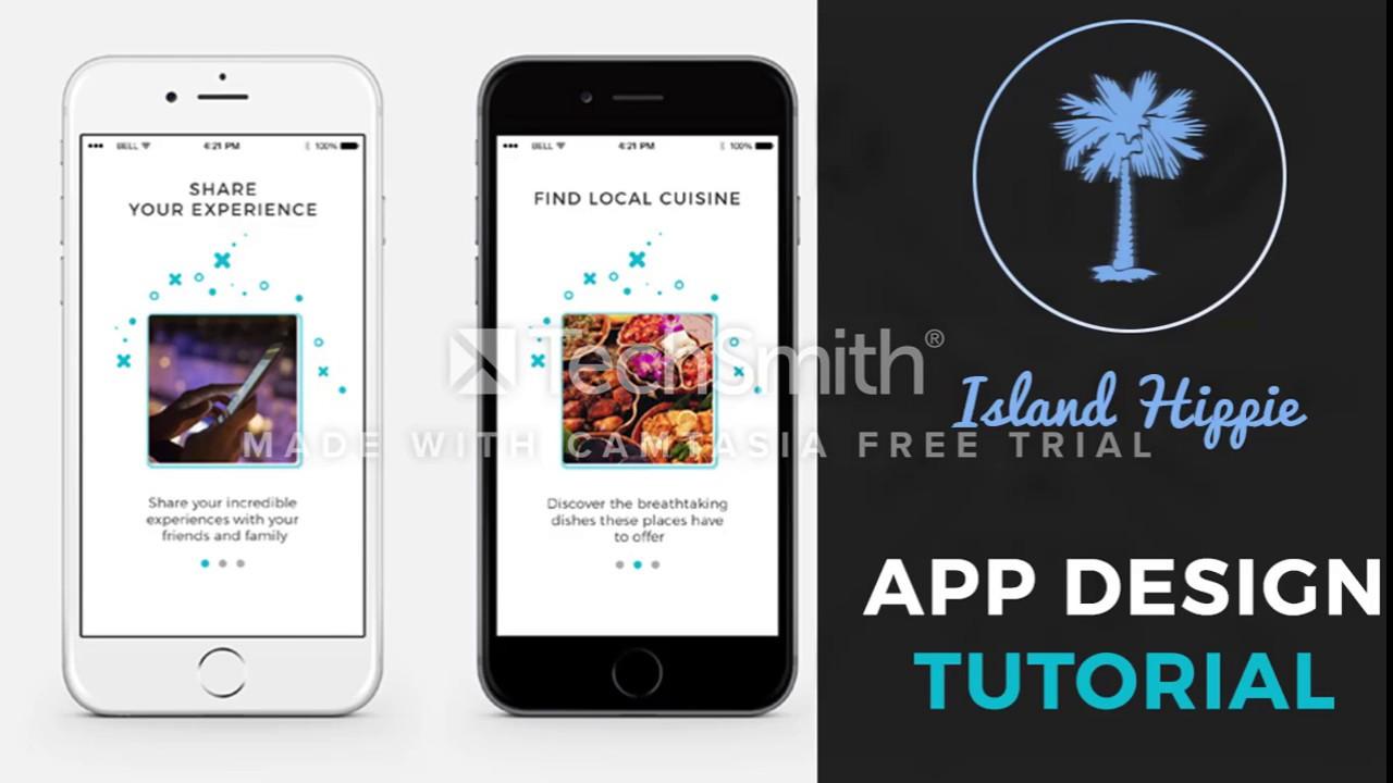 Mobile App UI/UX Design Tutorial in Adobe Photoshop (Graphic ...