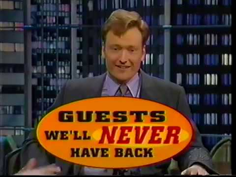 Guests We'll Never Have Back on Conan 19980220