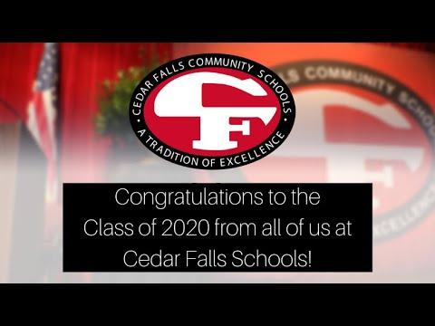Congratulations to the Class of 2020 - from everyone in Cedar Falls Schools! #TigerPride