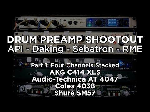 DRUM PREAMP SHOOTOUT PT. 1: API, Daking, RME, Sebatron with C414, 4038, SM57, AT4047
