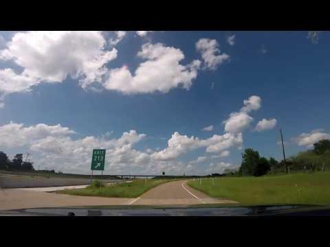 Texas to Colorado Road Trip Dash Cam - Part 1 Huntsville to Trinidad   - Slow TV
