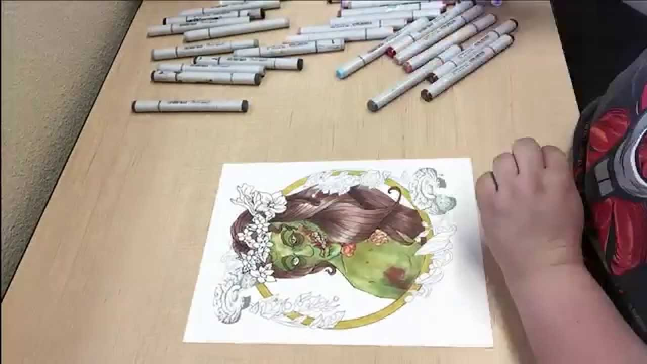Action Horror Coloring Book Tutorial