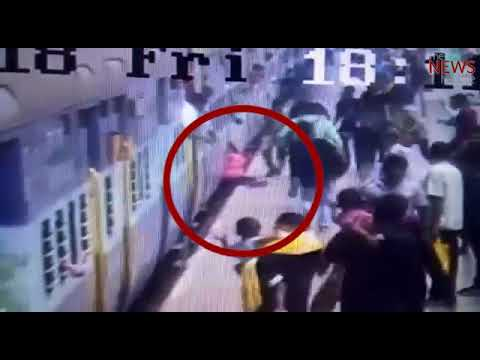 Watch: Quick thinking of railway cop saves man's life at Chennai Central station
