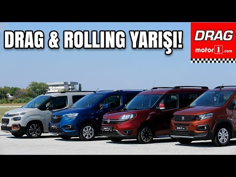 Drag & Rolling Yarışı! | Fiat Doblo vs. Peugeot Rifter vs. Opel Combo vs. Citroen Berlingo