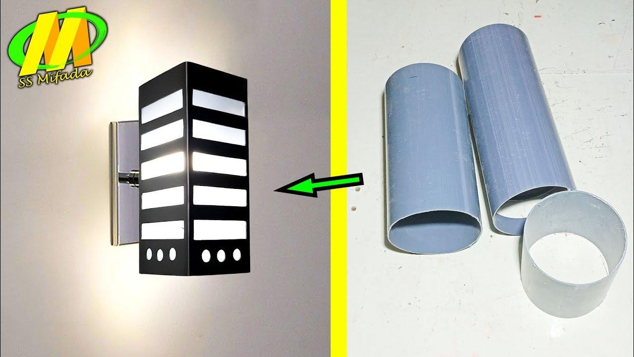 Cara Membuat Lampu Dinding Dari Pipa Pvc Model Kotak Youtube Cara membuat lampu dinding