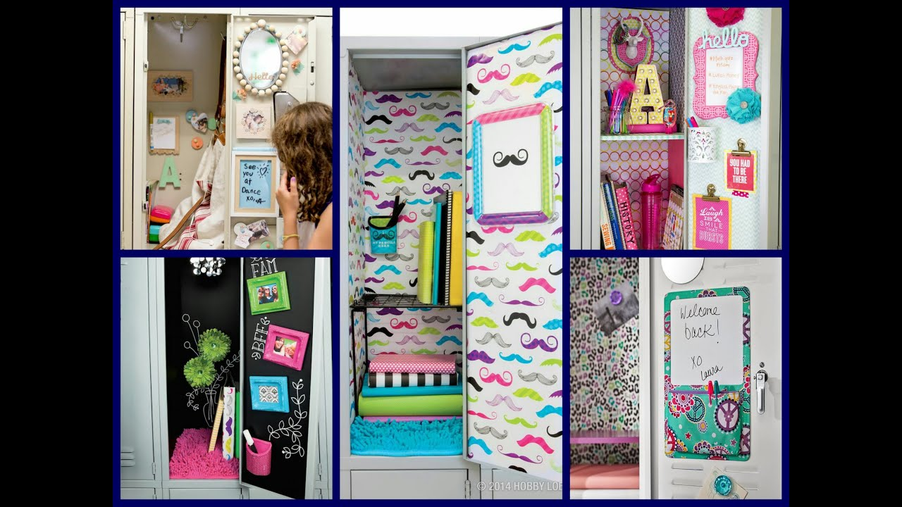 Locker Decoration Ideas back to school locker ideas - diy locker decorations - youtube