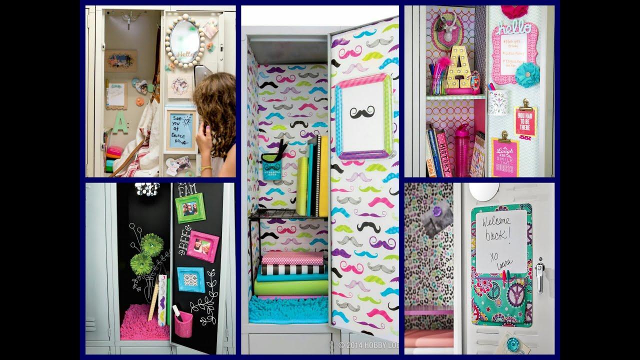 Back To School Locker Ideas Diy Locker Decorations Youtube  sc 1 st  Elitflat & School Supplies Decorating Ideas - Elitflat