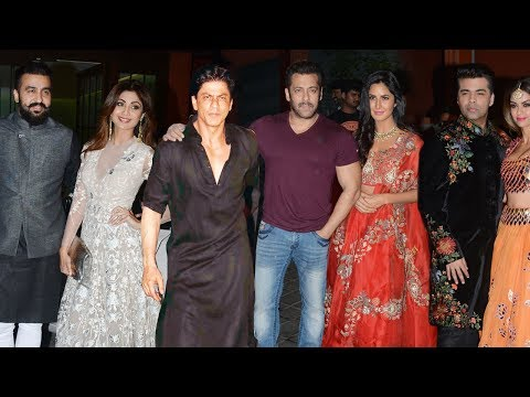 Salman Khan's GRAND Diwali Party 2017 FULL Video | Shah Rukh Khan,Katrina Kaif,Shilpa Shetty