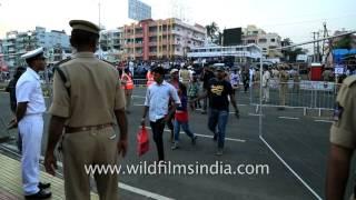 Indian Naval Police bike squad participates in International City Parade, Andhra Pradesh
