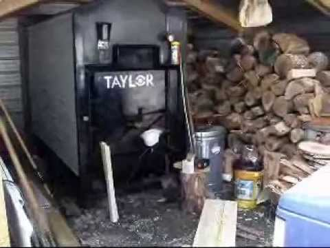 wood boiler shed done 2 youtube
