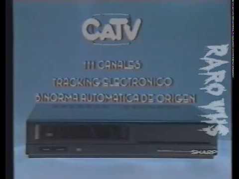 1993 Publicidad Videocasetera: Sharp CATV, 111 canales, tracking electrónico, Bi Norma