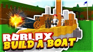 WE BUILT THE BEST BOAT! - BUILD A BOAT FOR TREASURE ROBLOX