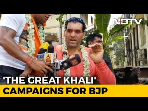Ex-WWE Wrestler `The Great Khali` Campaigns For BJP`s Jadavpur Candidate Anupam Hazra