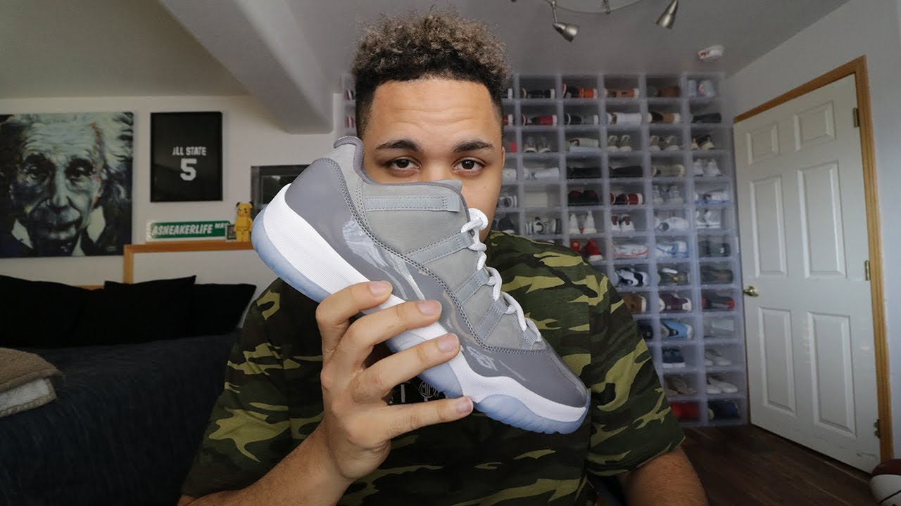 newest 7f644 64435 I BOUGHT THE NEW AIR JORDAN 11 COOL GREY LOW EARLY!!
