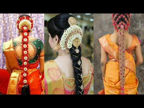 latest-pelli-poola-jadalu,south-indian-wedding-hair-styles