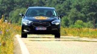 Continental 2017 prototype AR-Head Up Display showing Lane Departure Warning function