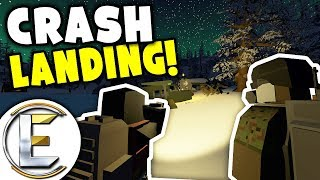 CRASH LANDING! - Unturned Roleplay Outbreak Story S2#1 (Landed In Unknown Place and It's Snowing)