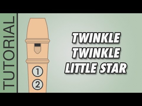 How to play Twinkle Twinkle Little Star (D Major) on the Recorder - Very Easy Tutorial