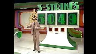 The Price is Right:  February 22, 1978  (3 Strikes won without a Strike!)