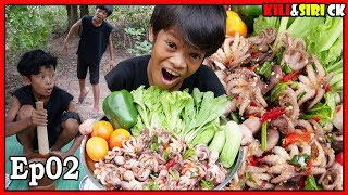 Cooking octopus in the jungle and Eating Ep02