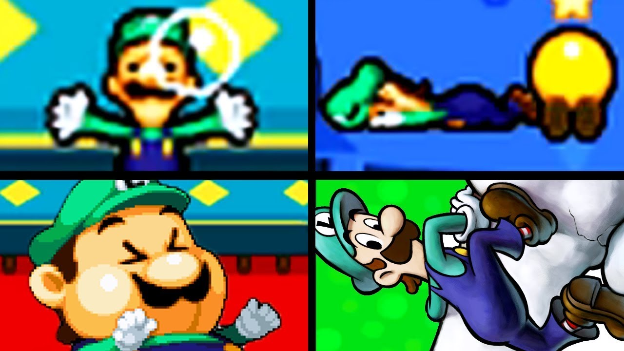 All Luigi Funny Reactions in Mario & Luigi: Bowser's Inside Story Cutscenes Movie 2018