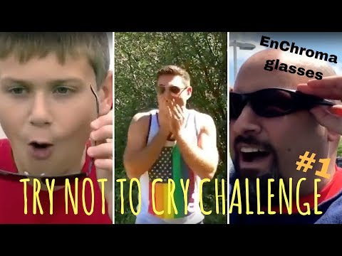 TRY NOT TO CRY CHALLENGE #1, EnChroma glasses