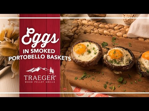 Portobello Baked Eggs with Sundried Tomato plants