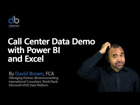 Webinar: Call Center Data Demo with Power Bi and Excel
