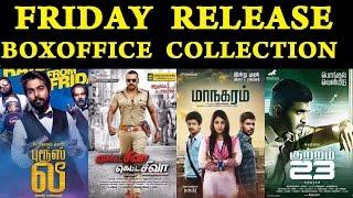 Friday Release Boxoffice Collection   Brucelee, Maanagaram, Kutram 23, Motta Siva Ketta Siva