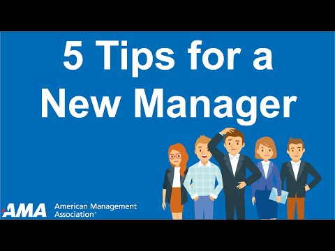 Tips to Become a Successful New Manager