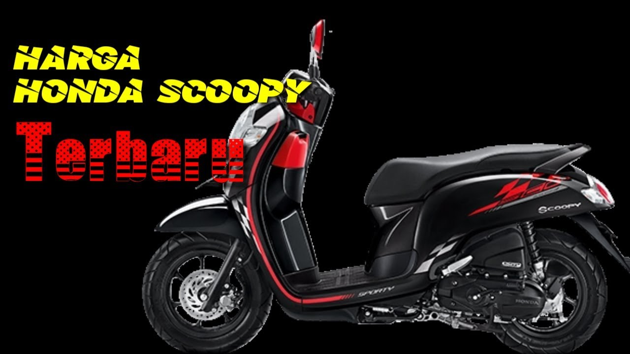 New Harga Honda Scoopy Terbaru Sporty Black Hondaupdate Youtube