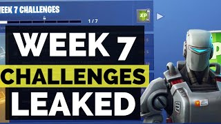 FORTNITE SEASON 6 WEEK 7 CHALLENGES LEAKED & NEW HUNTING PARTY SKIN!!! (HOW TO COMPLETE THEM)